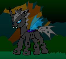 Changeling OC: Thorrax (Thorr) by BlackNapalmPony