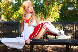Asuna Sitting by firecloak