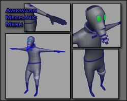 Awkward Robot Mechanic Mesh by Maxidius