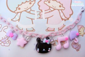 Black bunny bracelet by CiaLa