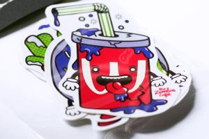 The Zombie Cafe Vinyl Stickers: Photo 1 by Hikero