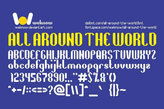 All Around The World font by weknow