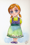 Anna as a kid by Little-Roisin