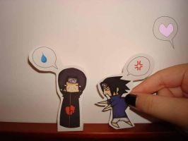 Paper Child: Itachi vs Sasuke by SakuraKiss130