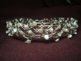Macrame Pearl Collar by Adornments