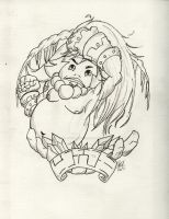 Goron Link Circle Line Art by Hollyberrystudio