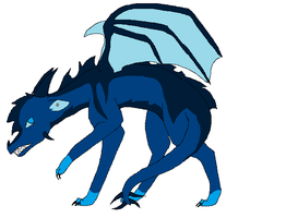 Blue Dragon by Hyperactive-Blue