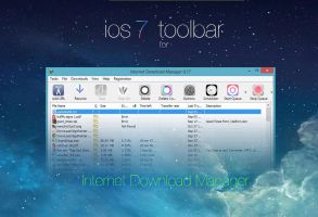 ios 7 toolbar for Internet Download Manager by bswas