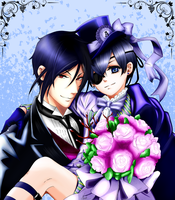 Sebastian and Ciel anniversary coloring by namisiaa