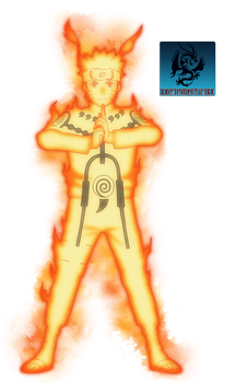 Kyuubi Chakra Controlled Mode KCM Naruto Render by CartoonPerson