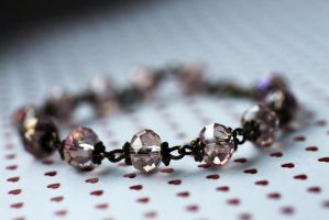 Antique Pink Crystal Bracelet by Clerdy