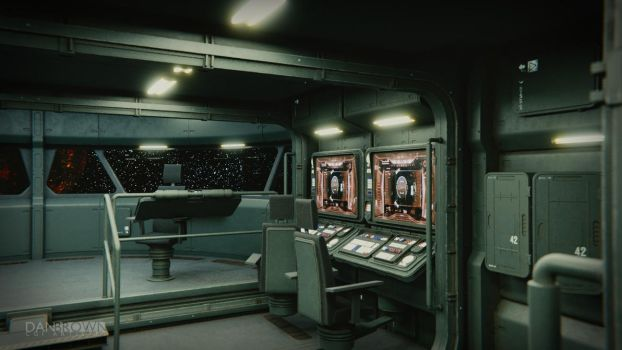 Small Starship Command Deck 1 by DanBrownCGI