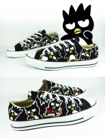 Bad Badtz Maru , Custom Converse Shoes by Annatarhouse