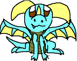 Ice Chibi Dragon by Me-MowTheCat