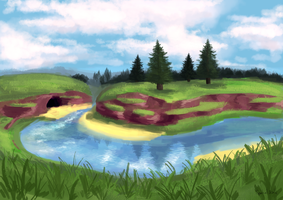 4 - River/Waterfall by TheSpectral-Wolf
