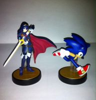 Amiibo Lucina et Sonic by ZeFrenchM