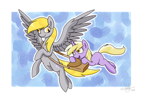 Derpy and Dinky by Violyre