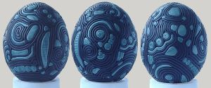 Lined Black and Blue Egg by Ranasp
