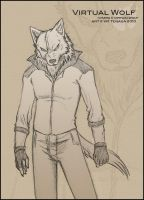 Sketch gift - Virtual Wolf by Tenaga