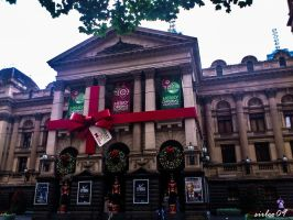 Melbourne - Town Hall Christmas by SirLeo09