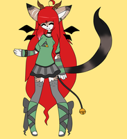 Alessa bell the demon nekomata[wip] by percivalxthexwolfx