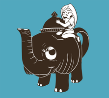 A Girl and Her Elephant by shylittleghost