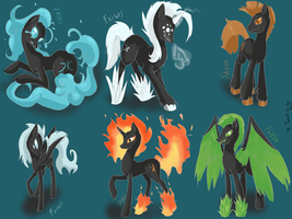 Request: Elemental Lords by Tomat-in-Cup