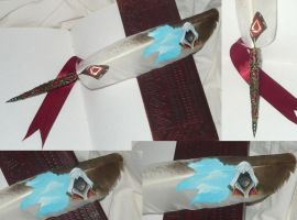 Assassins Soul - painted feather quill II by Ganjamira