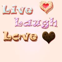 Live Laugh Love Cake Poster by Captain-Skittles