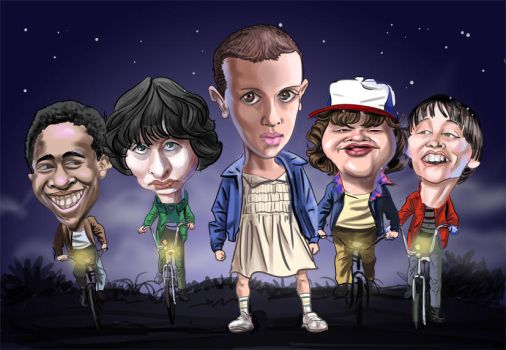 Stranger Things gang by Derveniotis
