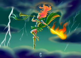 Flames of Battle by ArtistMeli
