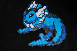 Pokemon Vaporeon Perler Sprite by Neo-Shadow-Bat
