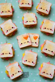 Kawaii Toast by LeChatNoirHandMade