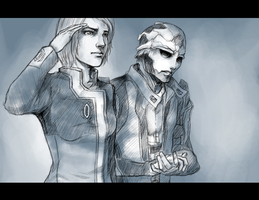 "ME2: ""They became Space"" by pen-gwyn"