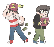 conmen and nerds by mushroomstairs