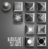 Marble Game Tile Assets by RedPaints