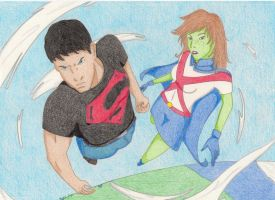 Superboy and Miss Martian by angelus-v1