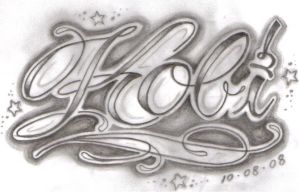 Fancy Script Tattoo Design by Tattooed-Honey