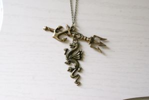 Sea Serpent Necklace by MonsterBrandCrafts