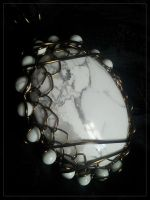 Howlite in Bronze by BacktoEarthCreations