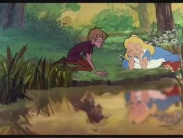 Alice and Arthur by the lake by JessiPan