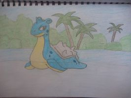 Lapras The plesiosaur by Megalomaniacaly