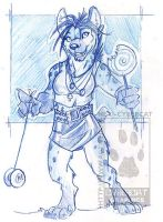 Hyena gal in blue pencil by lady-cybercat