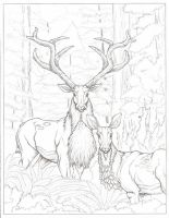 Sawsbuck and Sawsdoe by Dan326