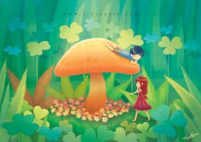 Hidden Garden- Rinian by childrensillustrator