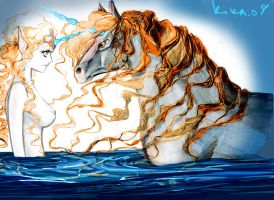 golden unicorns by kika1983
