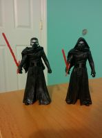 Kylo Ren Hooded and Hoodless by SentaiFive
