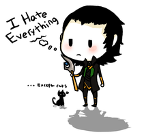 Loki hates everything by Kiptay