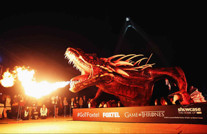 Game of thrones Dragon sculpture. Drogon. by deafmusic