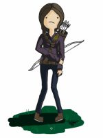 Katniss Everdeen in Adventure Time - FINISHED by spenzbowart